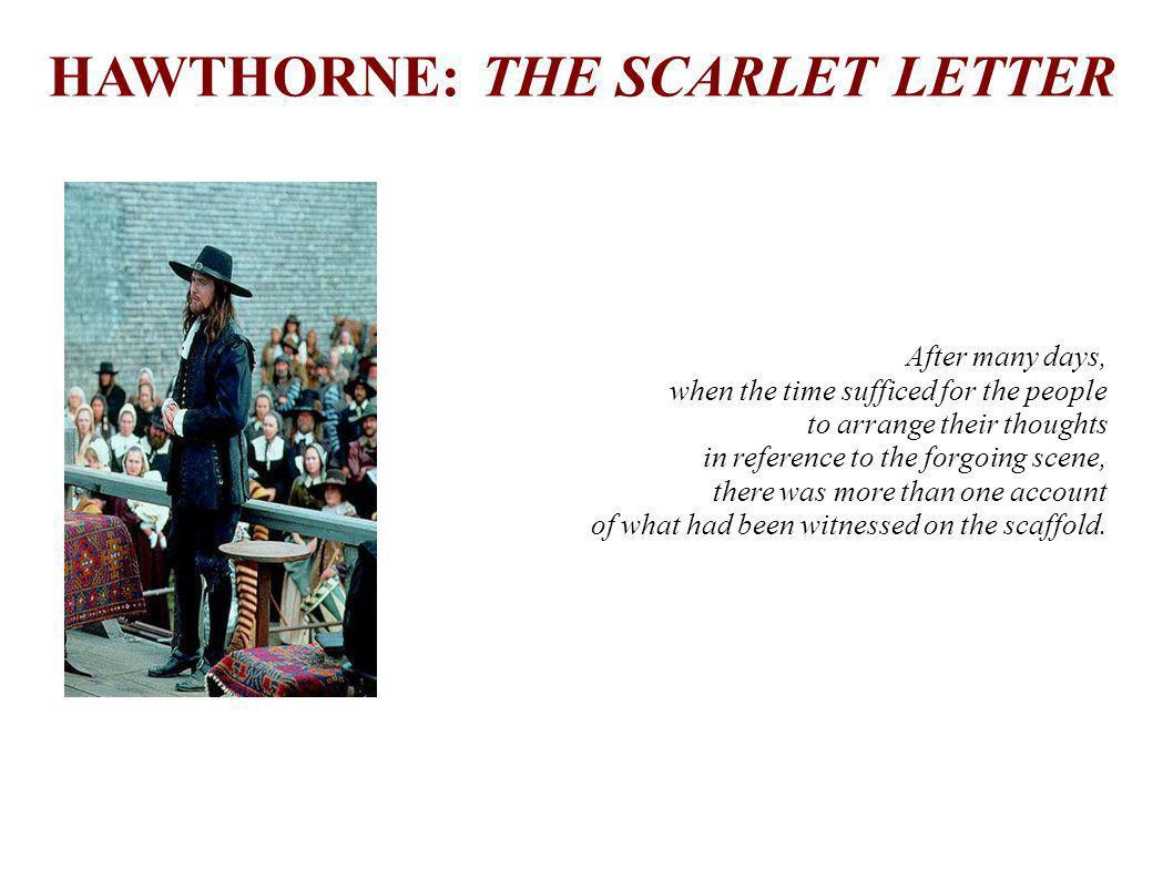 HAWTHORNE: THE SCARLET LETTER