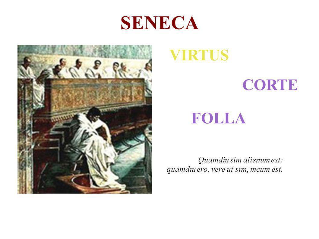 SENECA VIRTUS CORTE FOLLA Quamdiu sim alienum est: