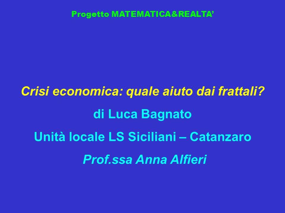 Crisi economica: quale aiuto dai frattali di Luca Bagnato