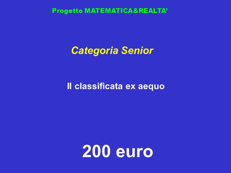 II classificata ex aequo