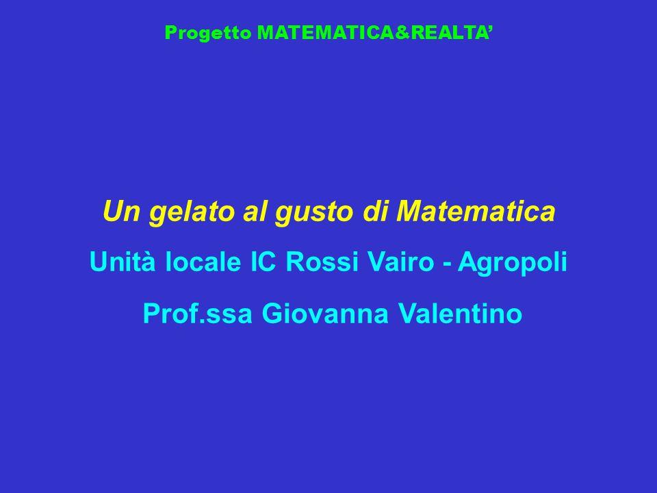 Un gelato al gusto di Matematica Prof.ssa Giovanna Valentino