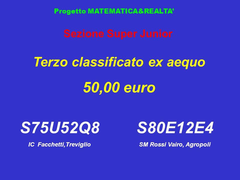 S75U52Q8 S80E12E4 50,00 euro Terzo classificato ex aequo