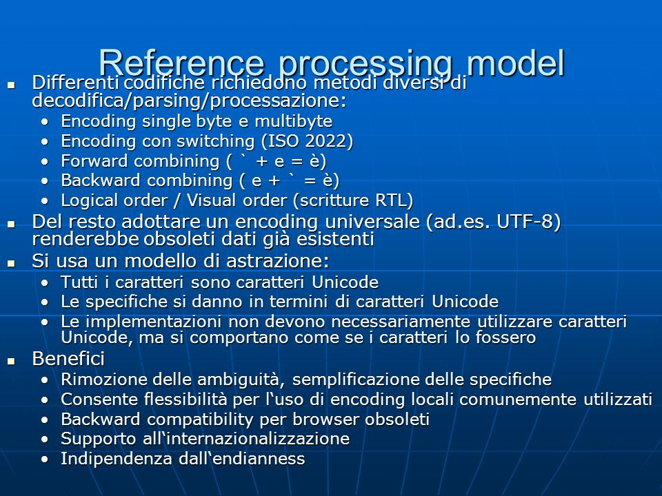 Reference processing model