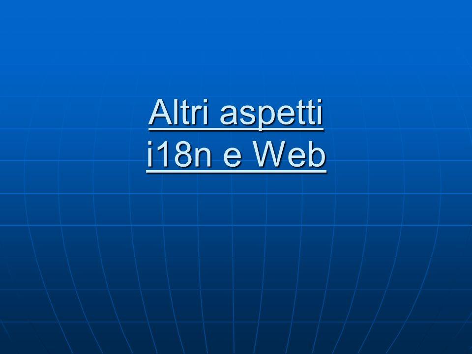 Altri aspetti i18n e Web