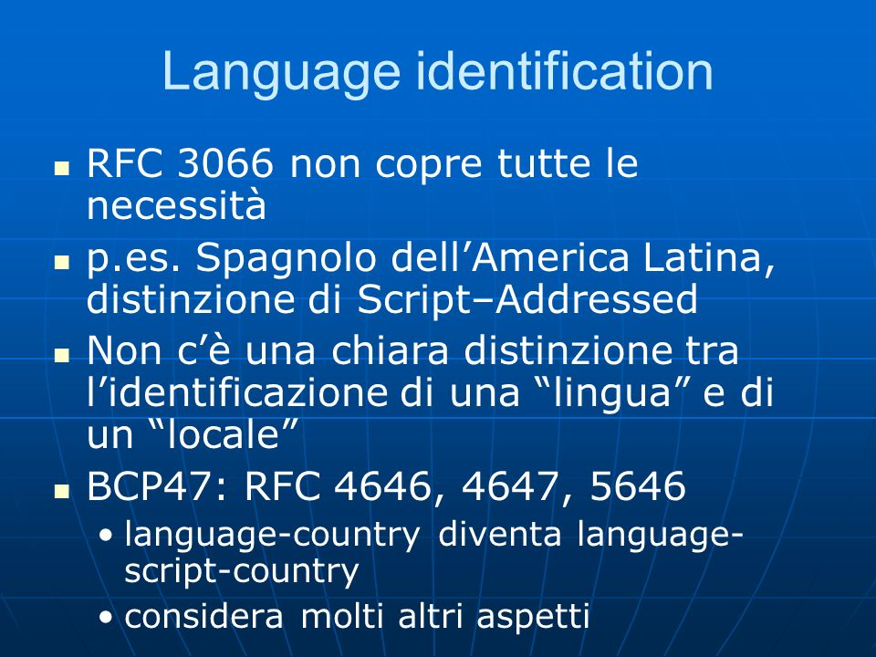 Language identification