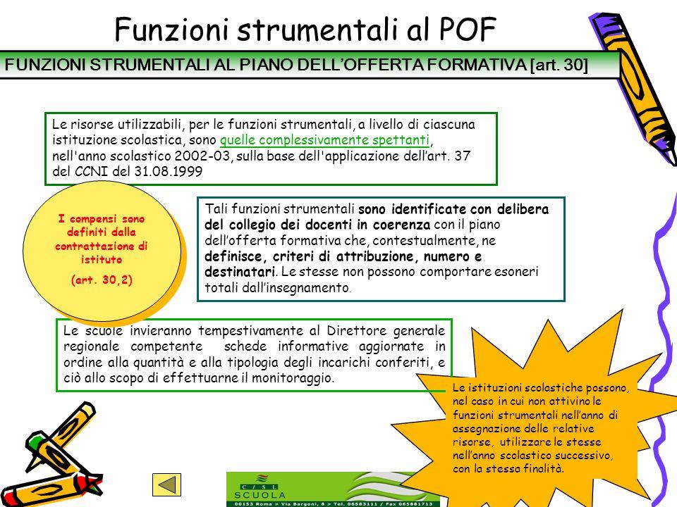 Funzioni strumentali al POF