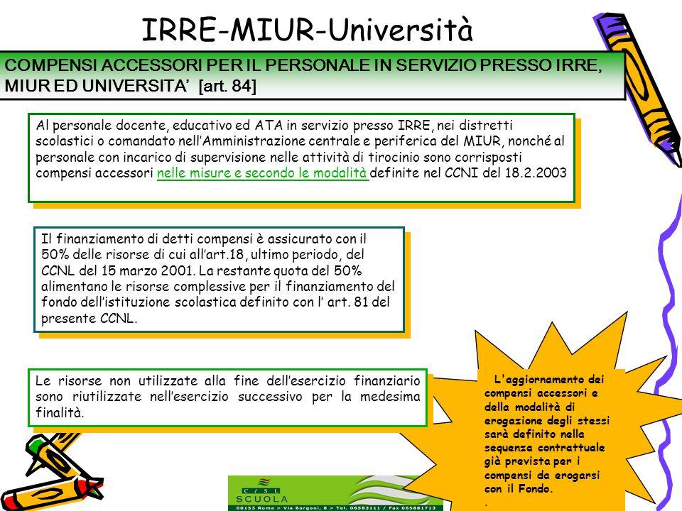 IRRE-MIUR-Università