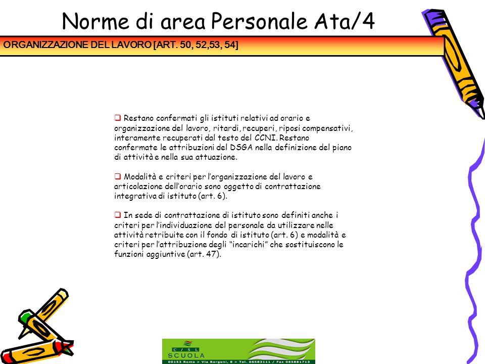 Norme di area Personale Ata/4