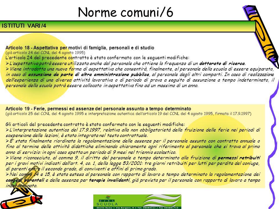 Norme comuni/6 ISTITUTI VARI /4