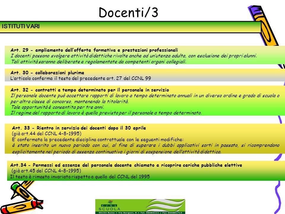 Docenti/3 ISTITUTI VARI