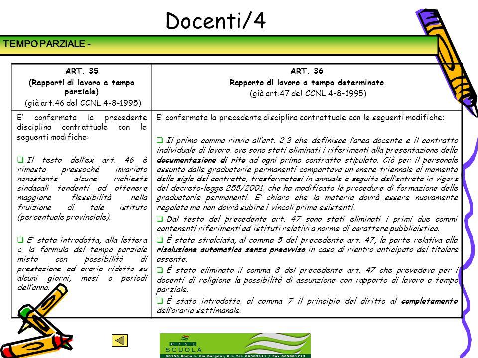 Docenti/4 TEMPO PARZIALE - ART. 35