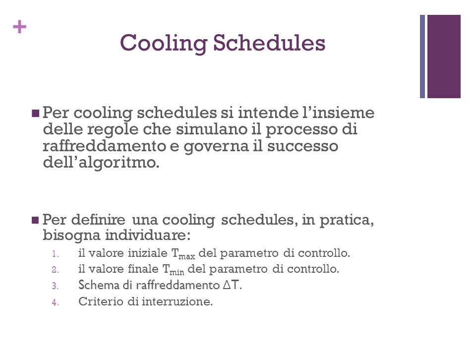 Cooling Schedules