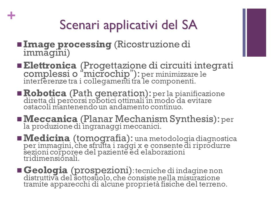 Scenari applicativi del SA
