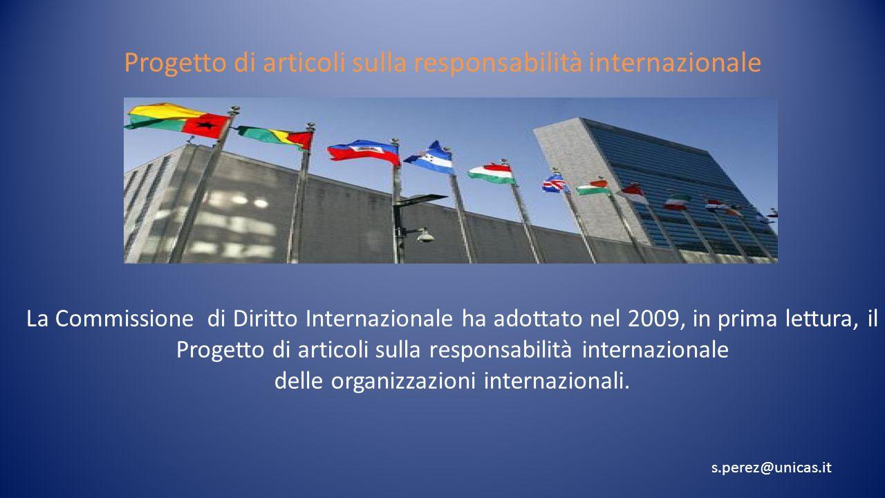 Progetto di articoli sulla responsabilità internazionale