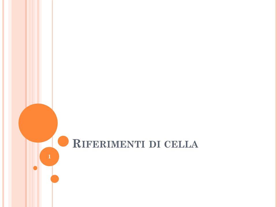 Riferimenti di cella