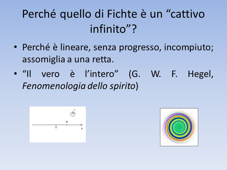 Perché quello di Fichte è un cattivo infinito
