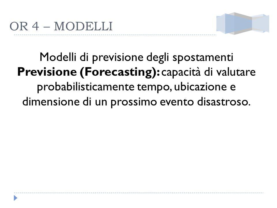 Modelli di previsione degli spostamenti