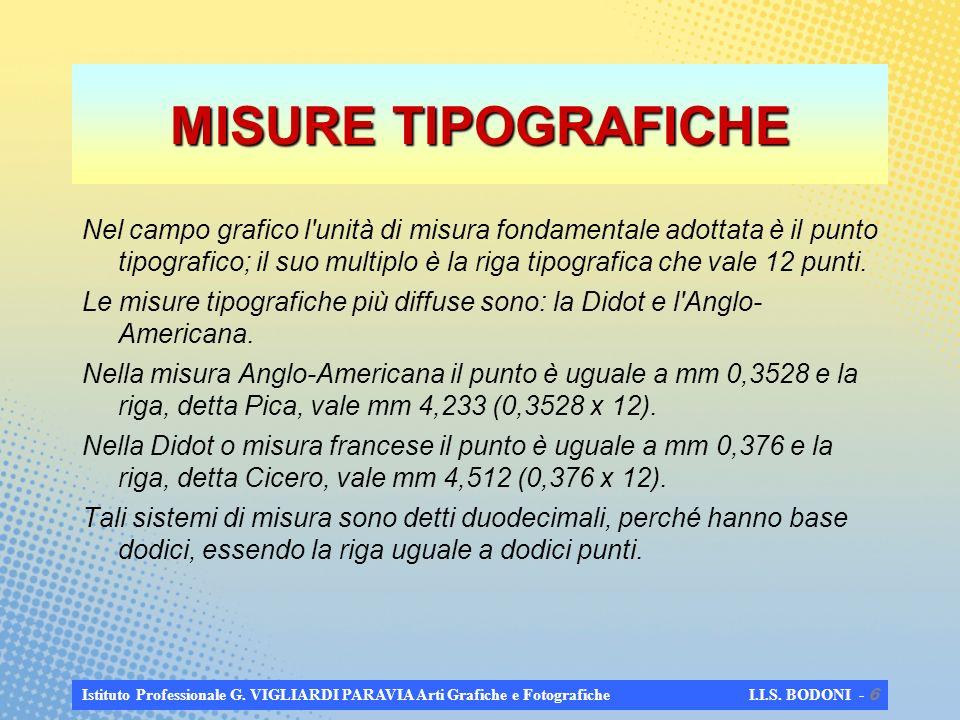 MISURE TIPOGRAFICHE