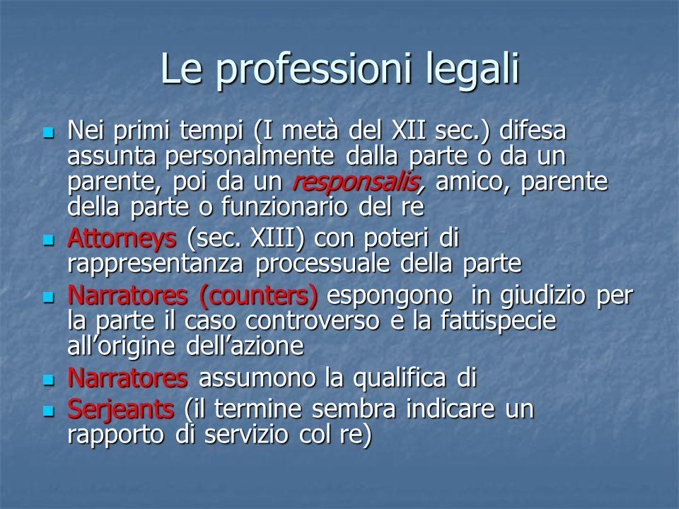 Le professioni legali