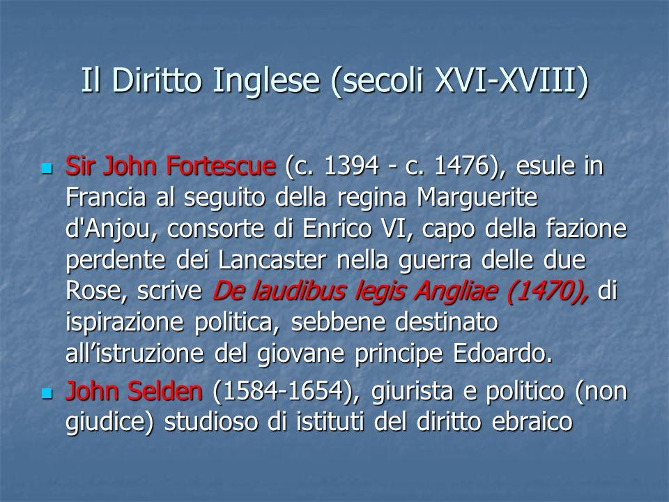 Il Diritto Inglese (secoli XVI-XVIII)