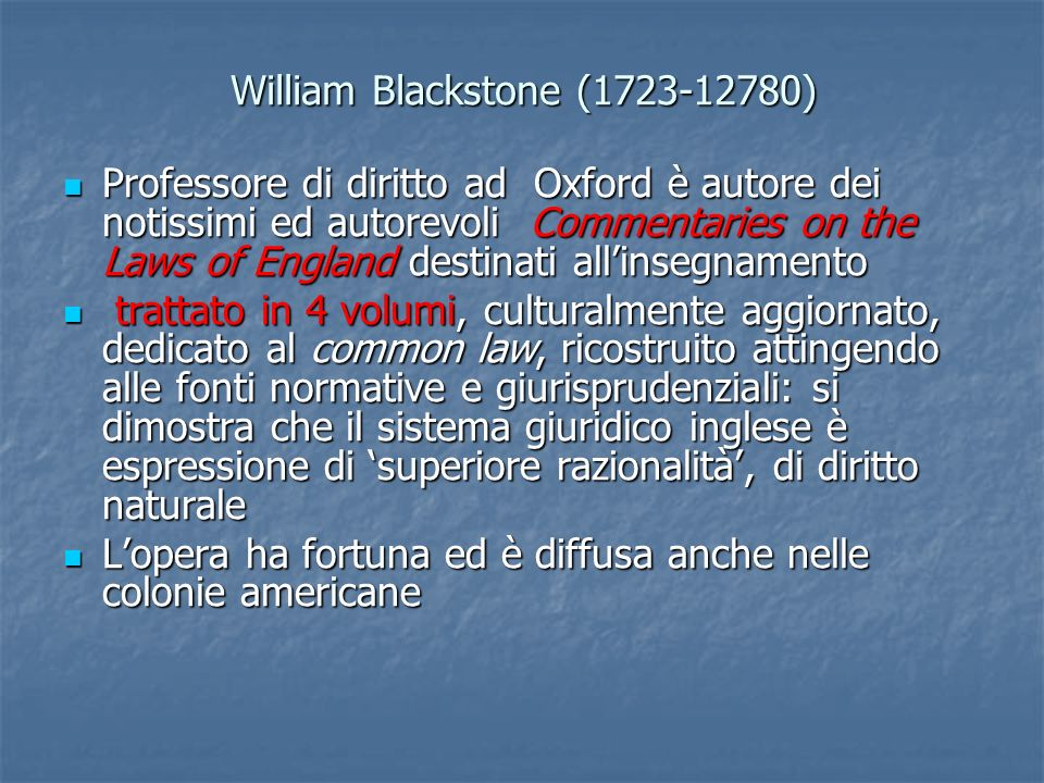 William Blackstone (1723-12780)