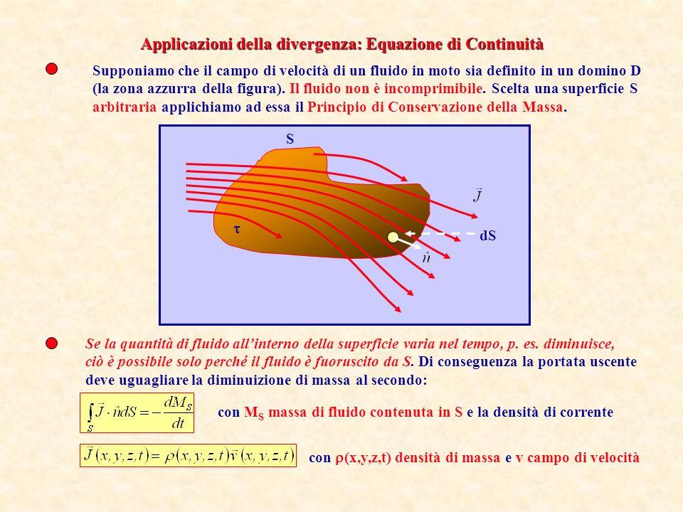 Applicazioni della divergenza: Equazione di Continuità