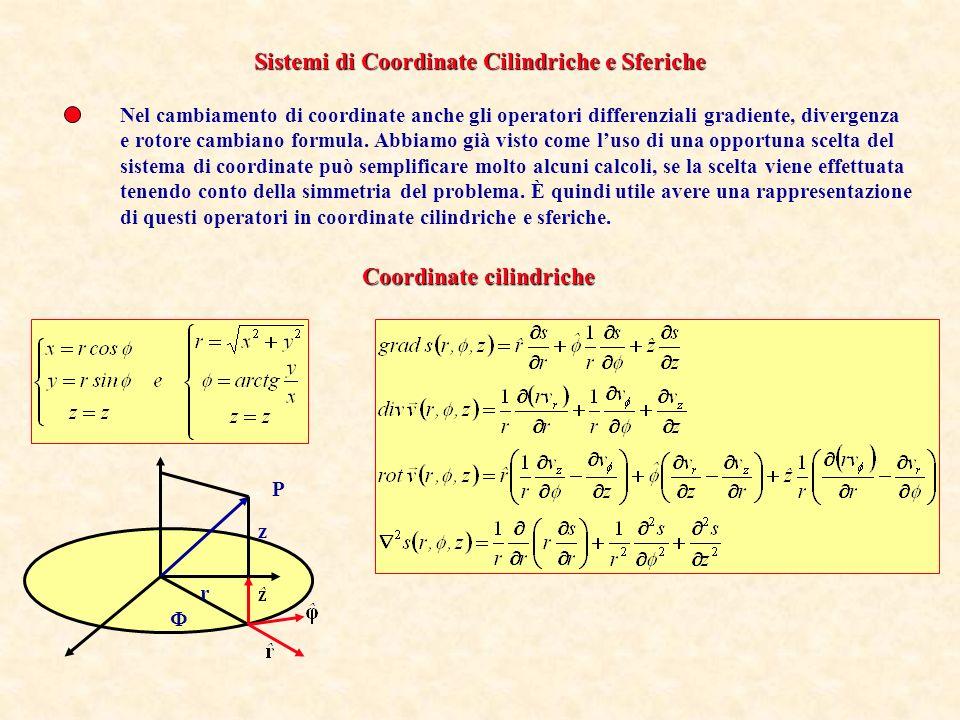 Sistemi di Coordinate Cilindriche e Sferiche
