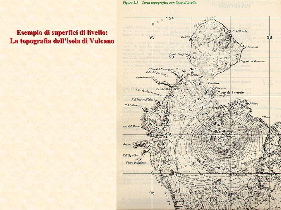 Esempio di superfici di livello: La topografia dell'isola di Vulcano
