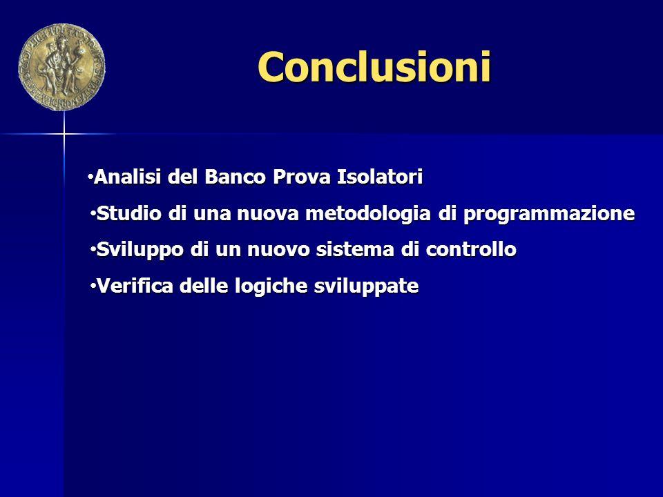 Conclusioni Analisi del Banco Prova Isolatori