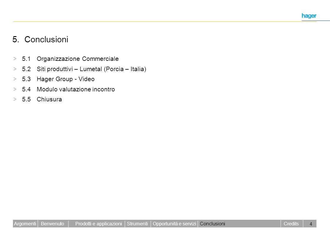 5. Conclusioni > 5.1 Organizzazione Commerciale