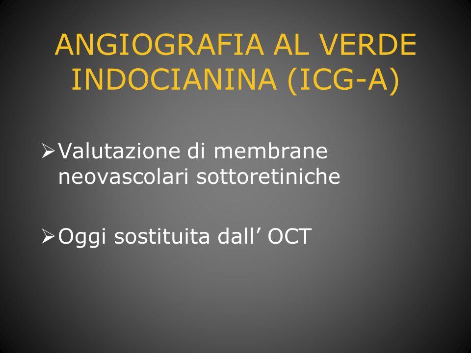 ANGIOGRAFIA AL VERDE INDOCIANINA (ICG-A)