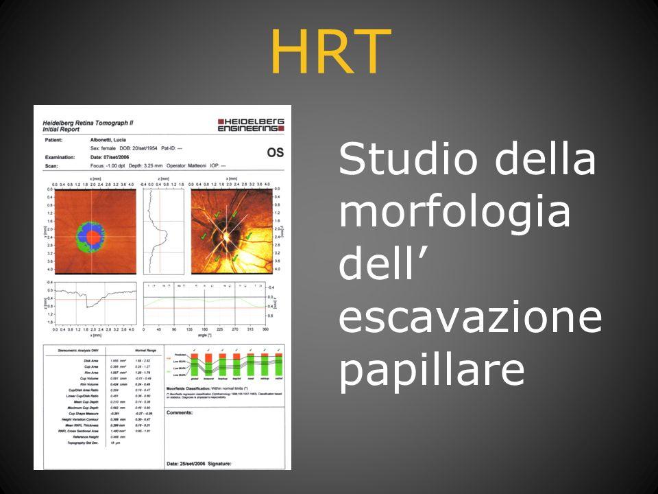 HRT Studio della morfologia dell' escavazione papillare