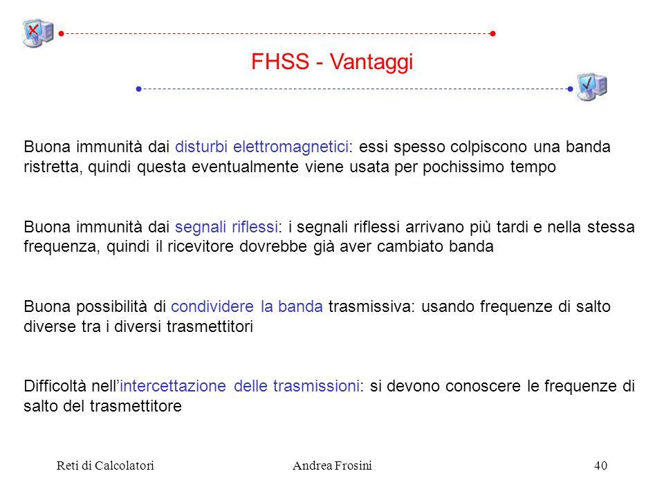 FHSS - Vantaggi