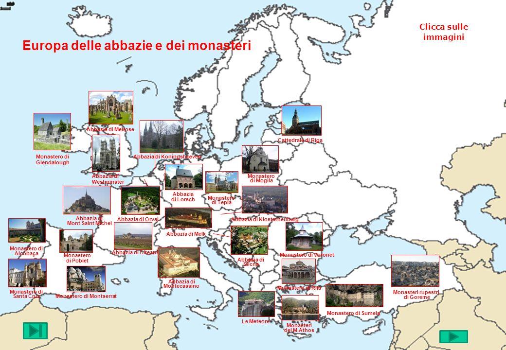 Europa delle abbazie e dei monasteri