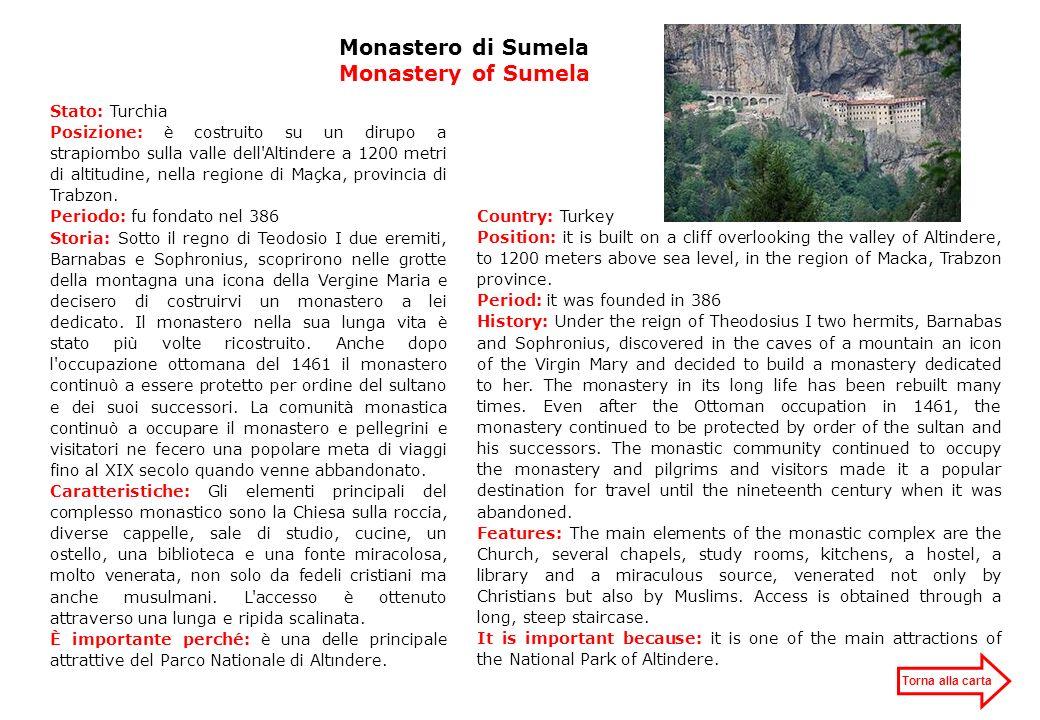 Monastero di Sumela Monastery of Sumela