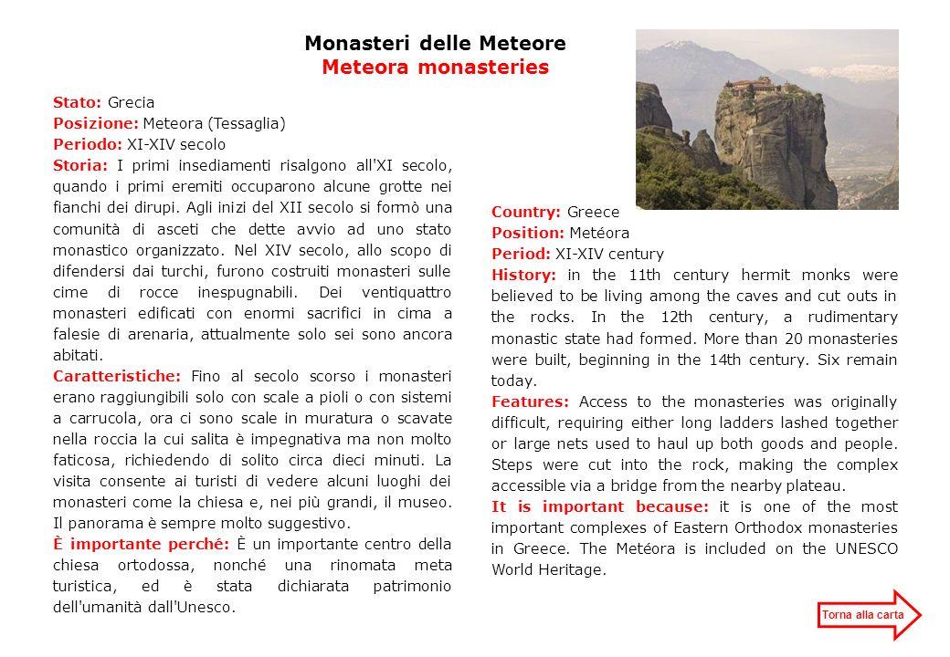 Monasteri delle Meteore Meteora monasteries