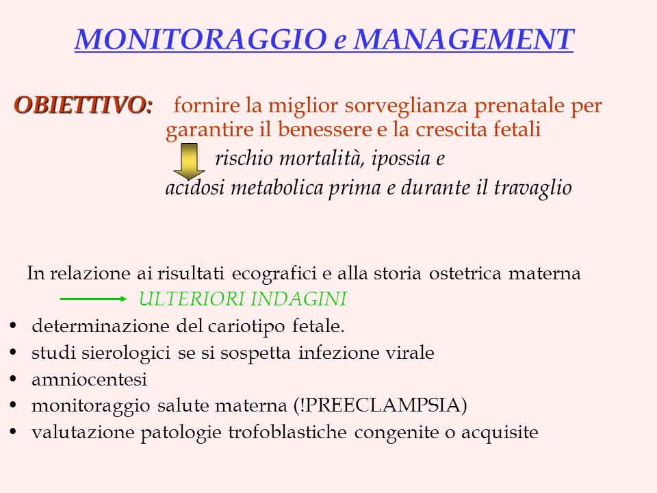 MONITORAGGIO e MANAGEMENT