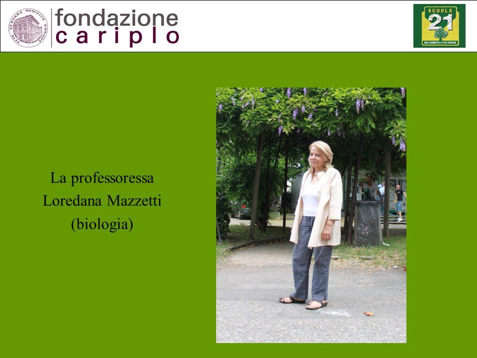 La professoressa Loredana Mazzetti (biologia)