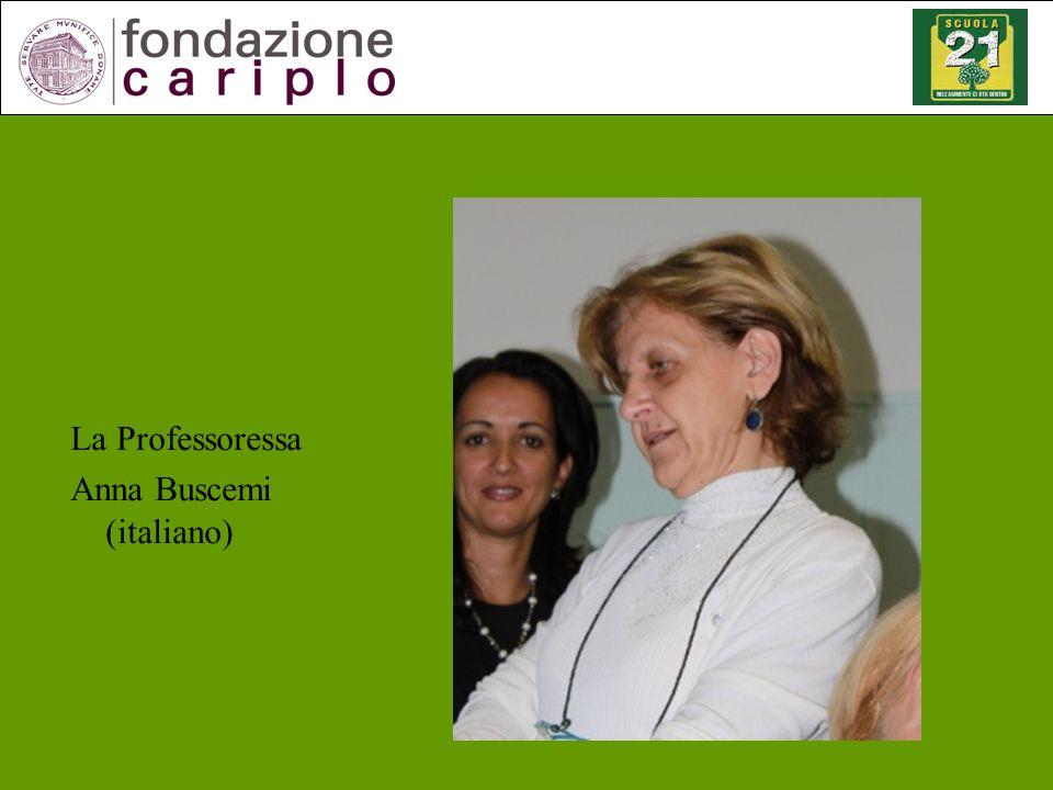 La Professoressa Anna Buscemi (italiano)