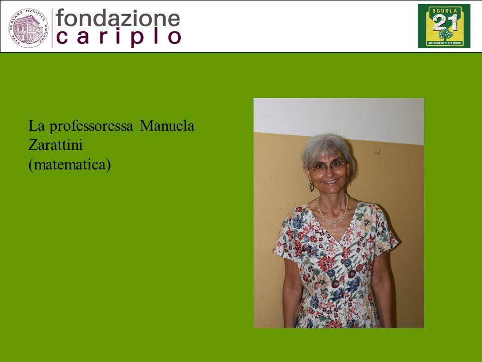 La professoressa Manuela Zarattini