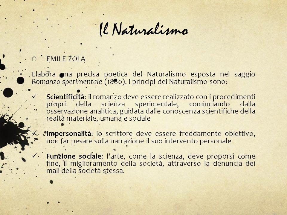 Il Naturalismo EMILE ZOLA
