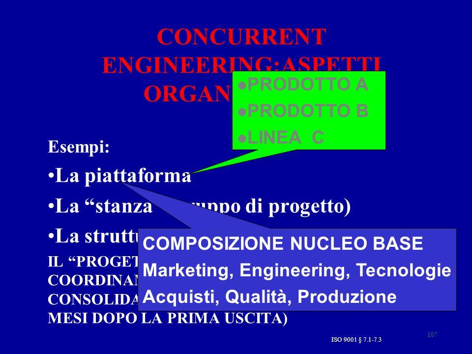 CONCURRENT ENGINEERING:ASPETTI ORGANIZZATIVI