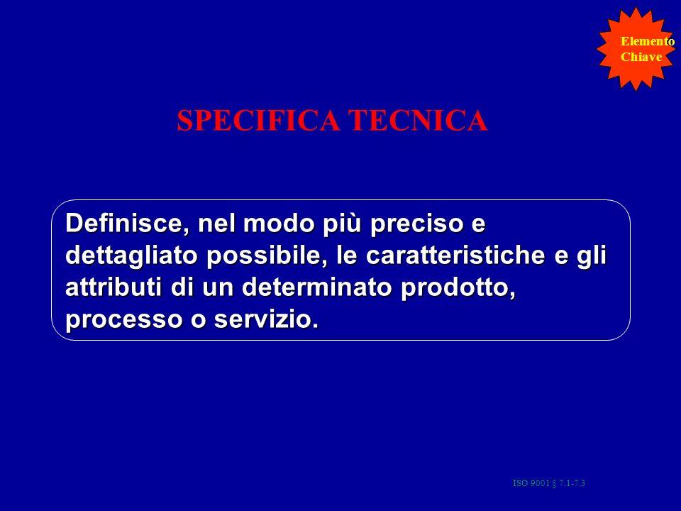 Elemento Chiave. SPECIFICA TECNICA.