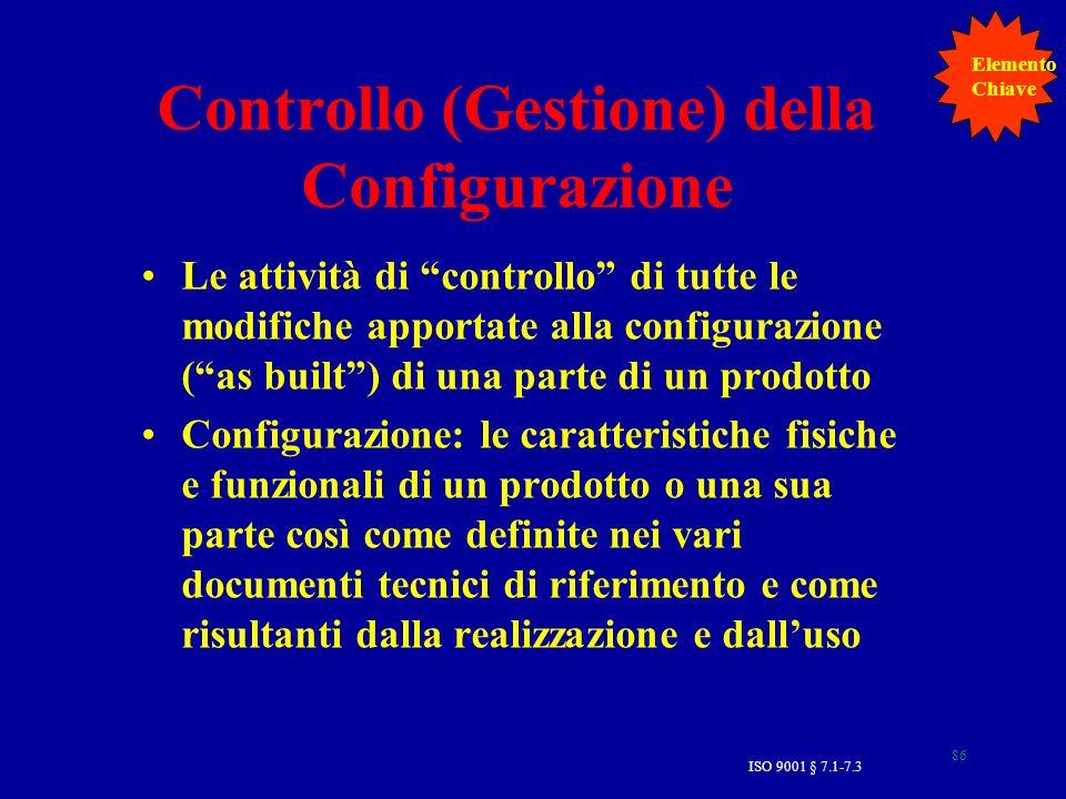 Controllo (Gestione) della Configurazione