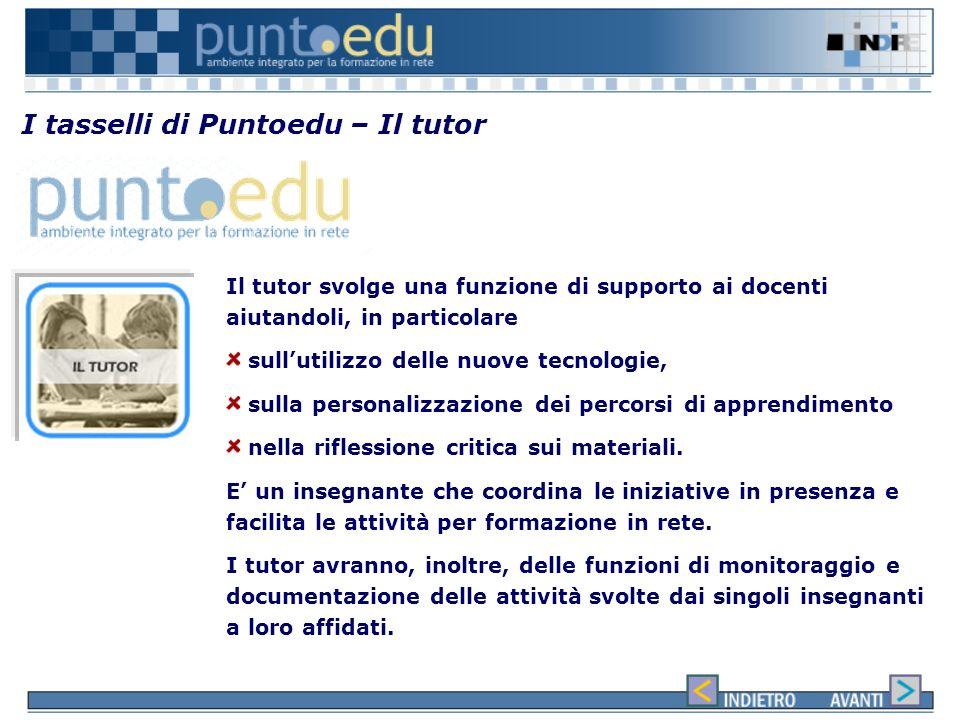 I tasselli di Puntoedu – Il tutor
