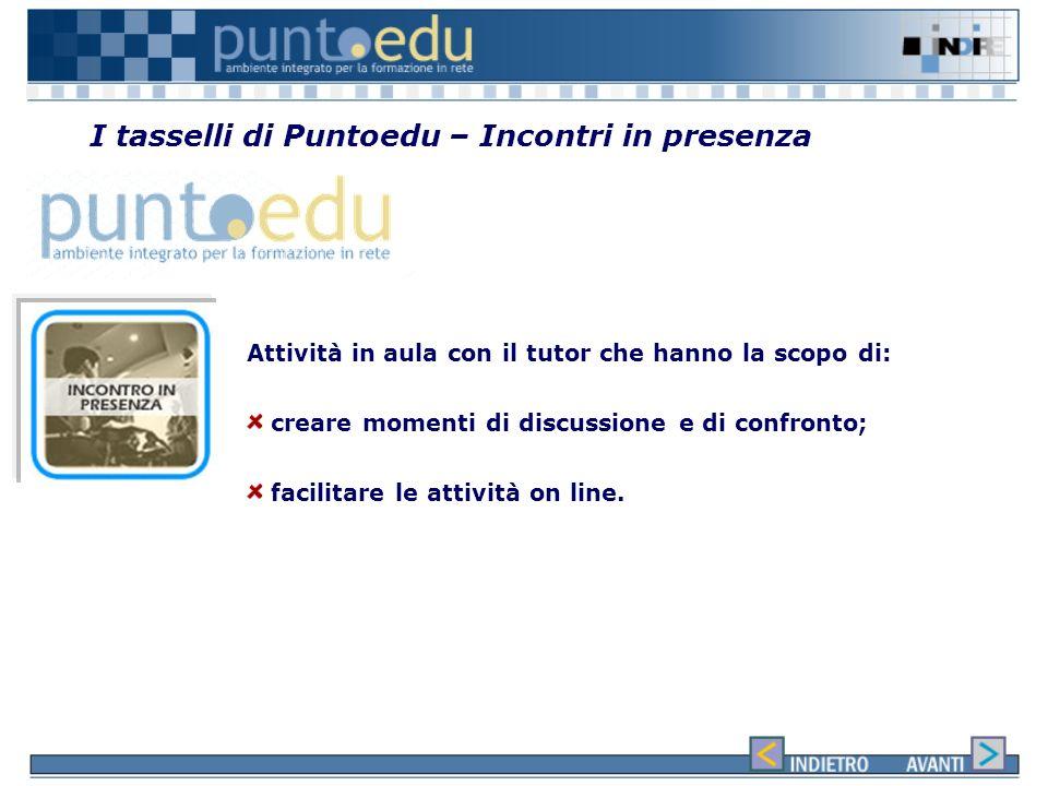 I tasselli di Puntoedu – Incontri in presenza