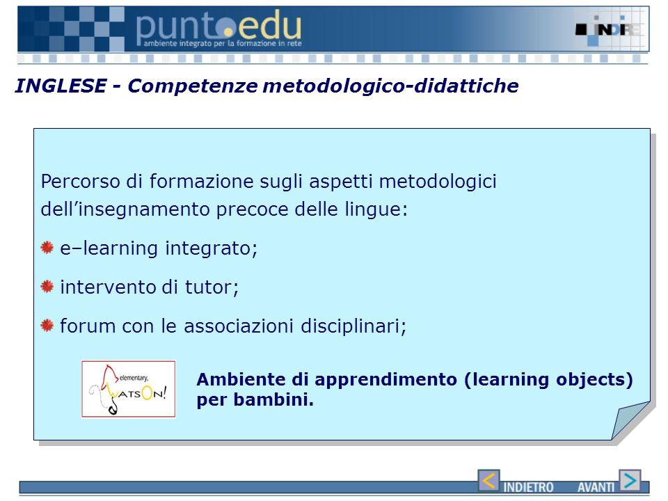 INGLESE - Competenze metodologico-didattiche