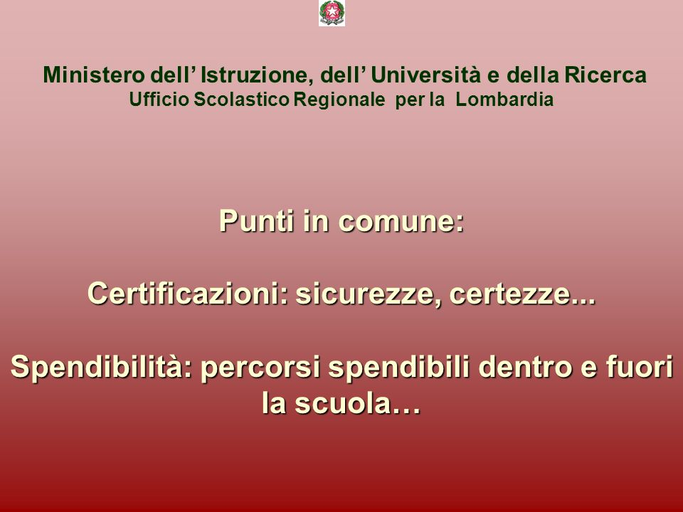 Certificazioni: sicurezze, certezze...