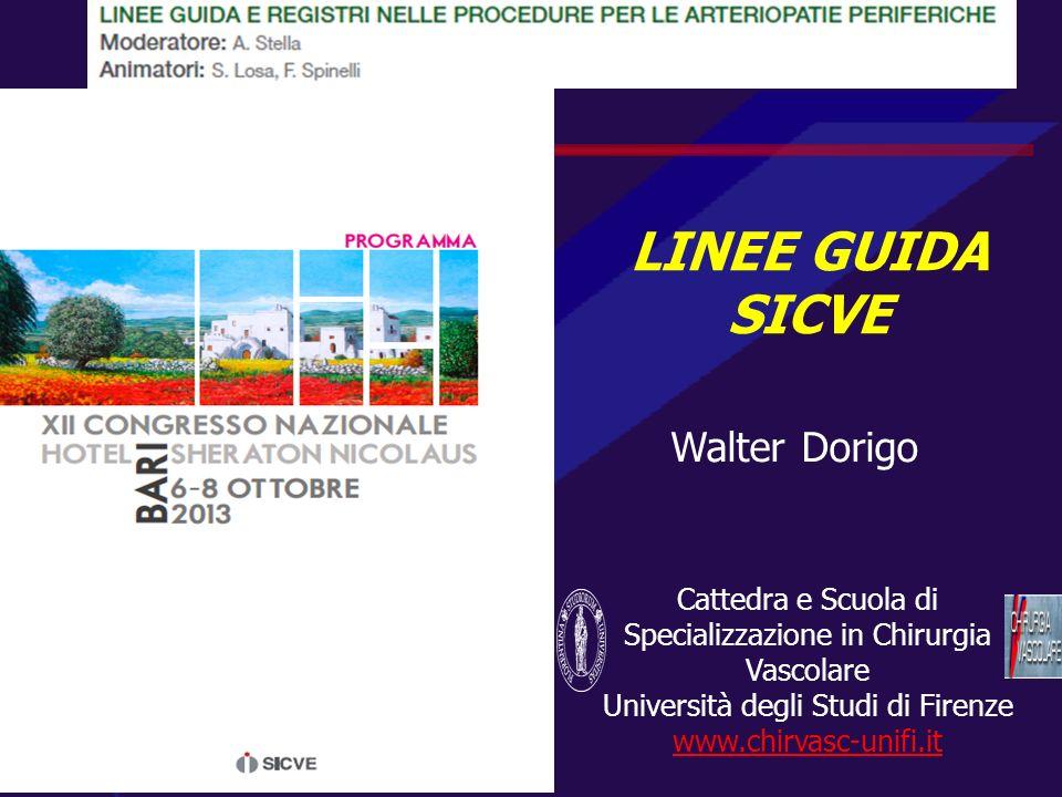 LINEE GUIDA SICVE Walter Dorigo
