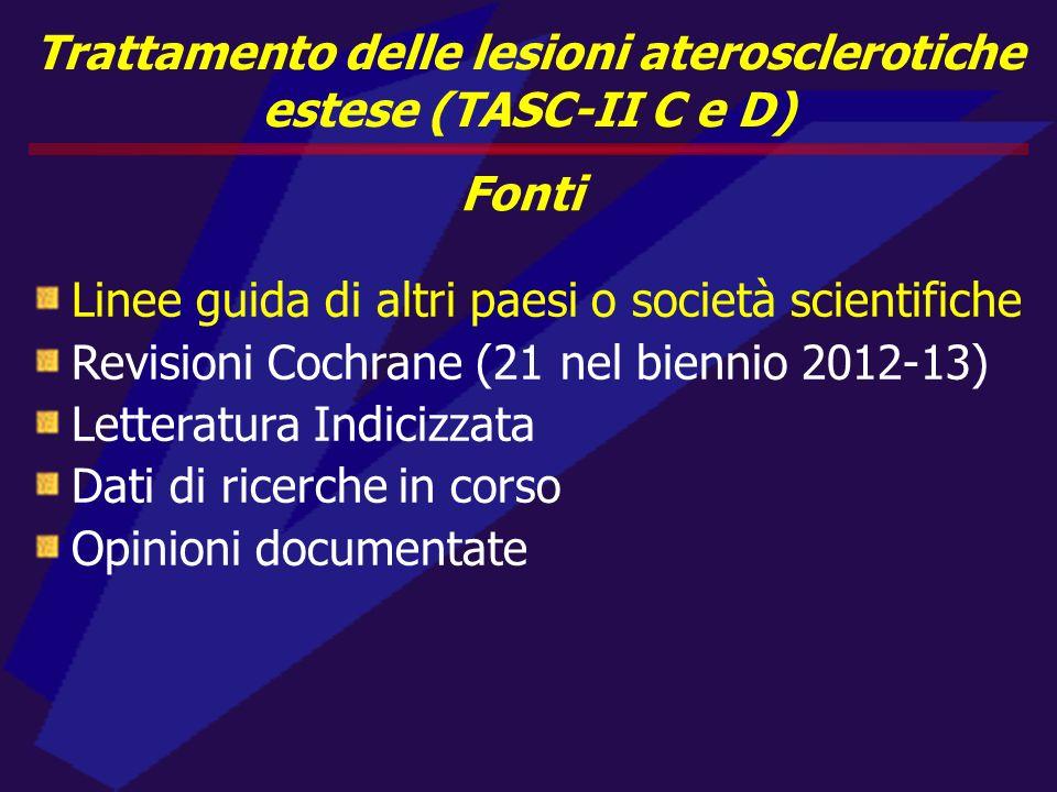 Trattamento delle lesioni aterosclerotiche estese (TASC-II C e D)
